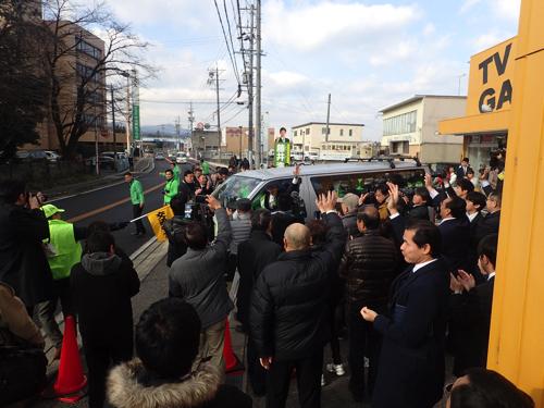 美濃加茂市長選挙1日目(1.22)
